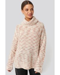 NA-KD Space Dyed Pullover - Roze
