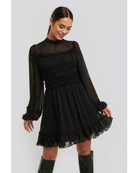 Trendyol Ruffle Detail Dress - Zwart