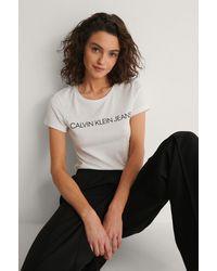Calvin Klein Core Institutional Logo Tee - Weiß