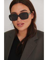 NA-KD Accessories Runde Sonnenbrille - Schwarz