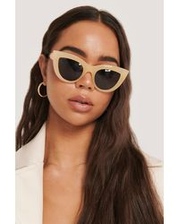 NA-KD Accessories Chunky Pointy Cat Eye Sunglasses - Natur