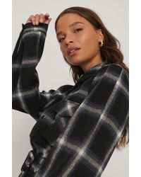 NA-KD Multicolour Flannel Check Shirt - Black