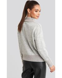 Trendyol Gray Beard Yarn Sweater