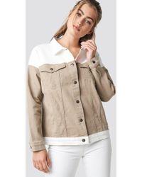 NA-KD - Blocking Colour Denim Jacket - Lyst