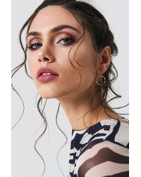 NA-KD - Fine Bar Ring Earrings - Lyst