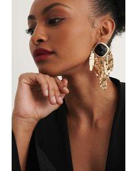 NA-KD Gold Messy Oversize Earrings - Metallic