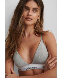 Calvin Klein Triangel-bh In Modern Katoen - Bruin