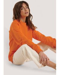 NA-KD Orange Oversized Crewneck Sweatshirt