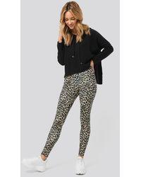NA-KD Leopard Print Leggings - Bruin