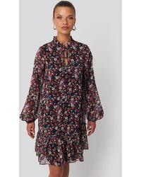 Trendyol Flower Patterned Mini Dress - Multicolore