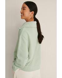 Mango Sweatshirt Met Hoge Halslijn - Groen