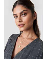 Mango - Dame Necklace Gold - Lyst