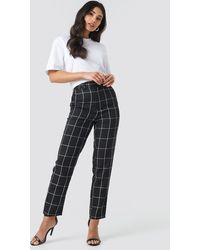 NA-KD - Cropped Straight Leg Suit Pants - Lyst