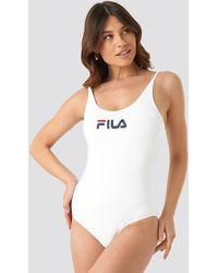 Fila White Saidi Bathing Suit