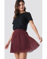 NA-KD Mini Pleated Skirt - Rood