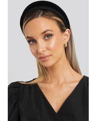 NA-KD - Puff Velvet Hairband Black - Lyst
