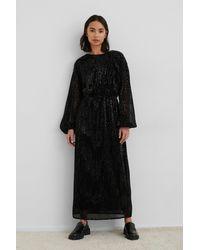 NA-KD Open Back Sequin Dress - Zwart