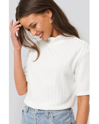 NA-KD - High Neck Ribbed Top - Lyst