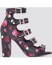 NA-KD Multi Buckle High Heels Multicolor - Black