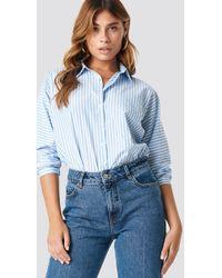 Trendyol - Striped Quarter Sleeve Shirt - Lyst
