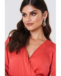 NA-KD - Hanging Structured Hands Earrings - Lyst
