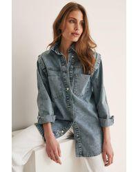 Trendyol Blue Pocket Denim Jacket