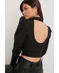 Trendyol Black Open Back Blouse