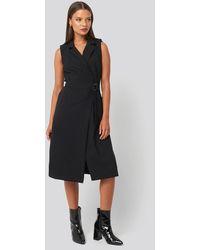 Trendyol - Buckle Detail Midi Dress - Lyst