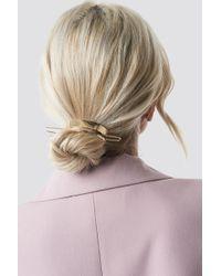 NA-KD - Circle Hair Pin Gold - Lyst