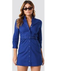 Mango - Mexi Dress Blue - Lyst