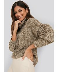 NA-KD - Melange Knitted Sweater - Lyst