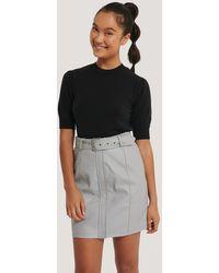NA-KD - Dilara x Belted PU Skirt - Lyst