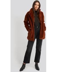Rut&Circle Tyra Faux Fur Jacket - Bruin