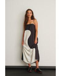 NA-KD Trend Color Block Midi Dress - Zwart