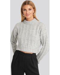 Trendyol Crop Sweater - Grau