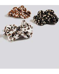 NA-KD 3-Pack Leo Print Scrunchies - Multicolore