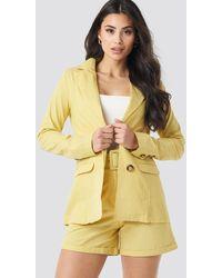 Trendyol Yol Pocket Detailed Jacket - Geel