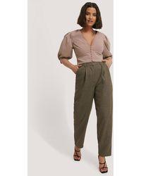 NA-KD Pantalon Met Plooidetail - Meerkleurig