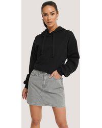 Trendyol Grey Basic Denim Mini Skirt