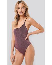 Trendyol Lurex One Shoulder Swimsuit - Meerkleurig