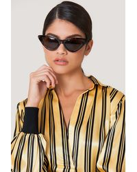 NA-KD Brown Pointy Cat Eye Sunglasses