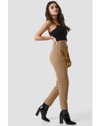 NA-KD Brown Tailored Slim Suit Pants