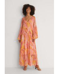 NA-KD Doorzichtige Maxi-jurk - Oranje