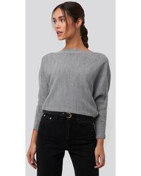 Trendyol Bat Sleeve Sweater - Grau