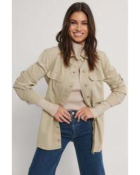 Trendyol Beige Oversized Denim Jacket - Natural