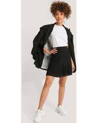 NA-KD Trend Pleated Bottom Skirt - Schwarz