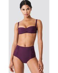 Trendyol - Draped Highwaist Bikini Bottom Damson - Lyst