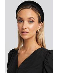 NA-KD Puff Velvet Hairband Black