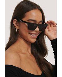 NA-KD Accessories Spitz Zulaufende Eckige Cateye-Sonnenbrille - Schwarz
