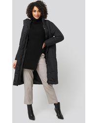 Trendyol Padded Long Jacket - Zwart